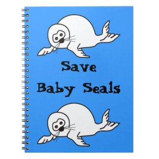 Baby Seal Spiral Notebooks