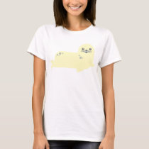 baby seal ocean animals tshirt creamy white