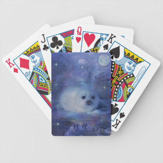Baby Seal on Ice - Beautiful Seascape Bicycle Playing Cards