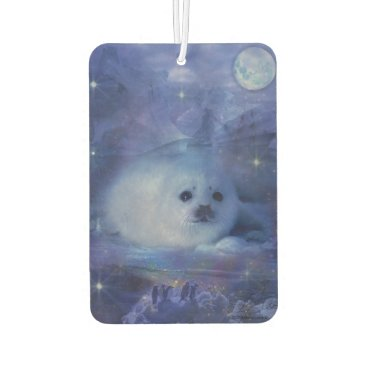 Beach Themed Baby Seal on Ice - Beautiful Seascape Car Air Freshener