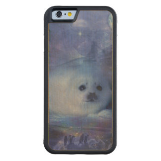 Baby Seal on Ice - Beautiful Seascape Carved Maple iPhone 6 Bumper Case
