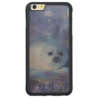 Baby Seal on Ice - Beautiful Seascape Carved Maple iPhone 6 Plus Bumper Case
