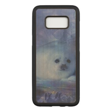 Beach Themed Baby Seal on Ice - Beautiful Seascape Carved Samsung Galaxy S8 Case