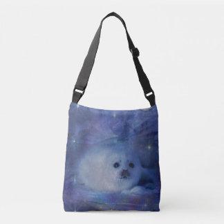 Baby Seal on Ice - Beautiful Seascape Crossbody Bag