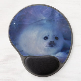Baby Seal on Ice - Beautiful Seascape Gel Mouse Pad