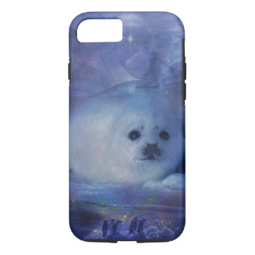 Beach Themed Baby Seal on Ice - Beautiful Seascape iPhone 7 Case