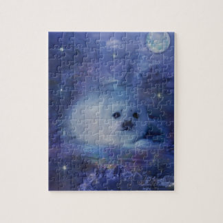 Baby Seal on Ice - Beautiful Seascape Jigsaw Puzzle