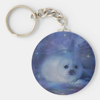 Baby Seal on Ice - Beautiful Seascape Keychain