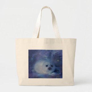 Baby Seal on Ice - Beautiful Seascape Large Tote Bag