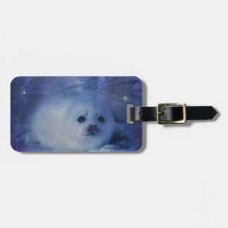 Baby Seal on Ice - Beautiful Seascape Luggage Tag