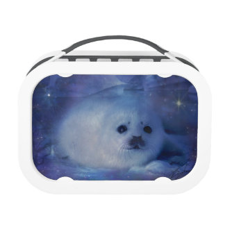 Baby Seal on Ice - Beautiful Seascape Lunch Box
