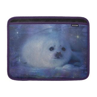 Baby Seal on Ice - Beautiful Seascape MacBook Sleeve