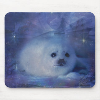Baby Seal on Ice - Beautiful Seascape Mouse Pad