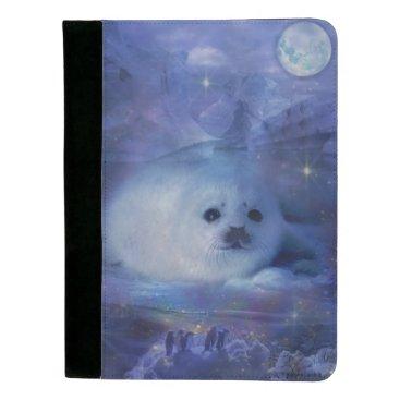 Beach Themed Baby Seal on Ice - Beautiful Seascape Padfolio