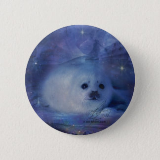 Baby Seal on Ice - Beautiful Seascape Pinback Button