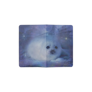Baby Seal on Ice - Beautiful Seascape Pocket Moleskine Notebook