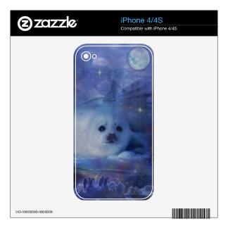Baby Seal on Ice - Beautiful Seascape Skin For iPhone 4
