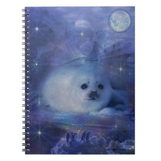 Baby Seal on Ice - Beautiful Seascape Spiral Notebook