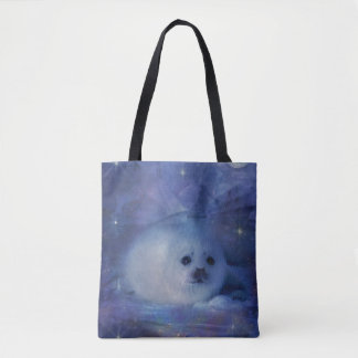 Baby Seal on Ice - Beautiful Seascape Tote Bag