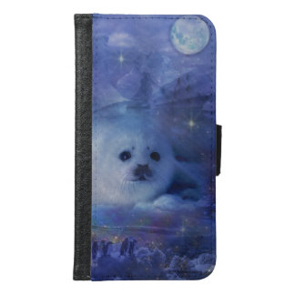 Baby Seal on Ice - Beautiful Seascape Wallet Phone Case For Samsung Galaxy S6