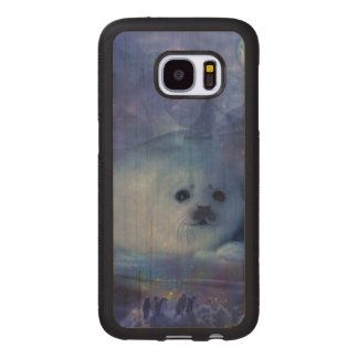 Baby Seal on Ice - Beautiful Seascape Wood Samsung Galaxy S7 Case