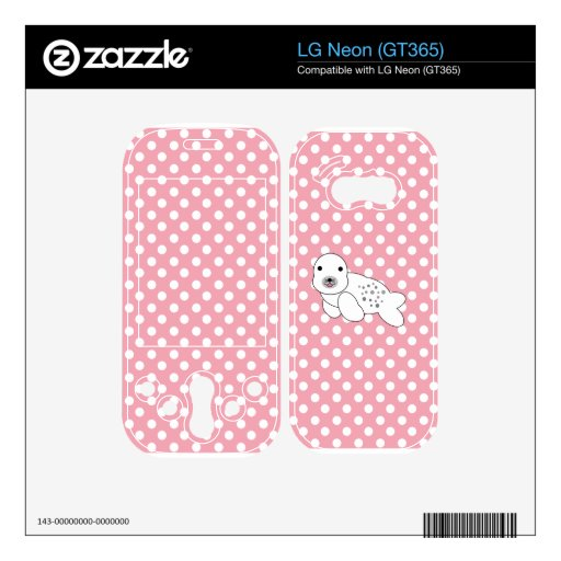 Baby seal pink and white polka dots skin for LG neon