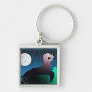 Baby Seal With Moon Keychain