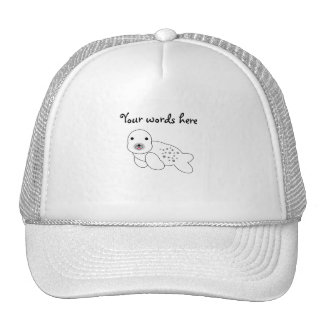 Baby seal with spots trucker hat