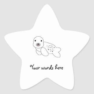 Baby seal with spots star sticker