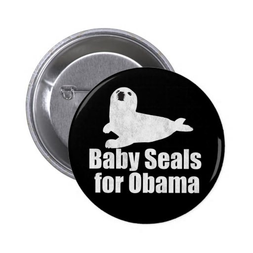 Baby Seals for Obama Pinback Button