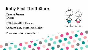 Thrift store business cards templates zazzle baby second hand store business card reheart Gallery