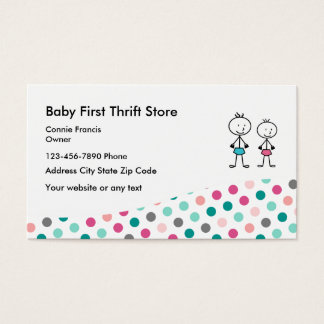 Baby Second Hand Store Business Card