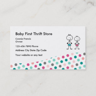 Thrift store business cards zazzle baby second hand store business card reheart Images