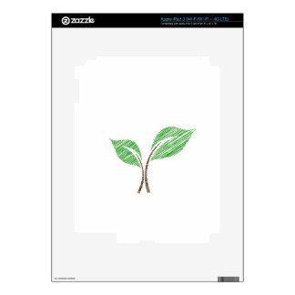 Baby seedling sketched iPad 3 skin