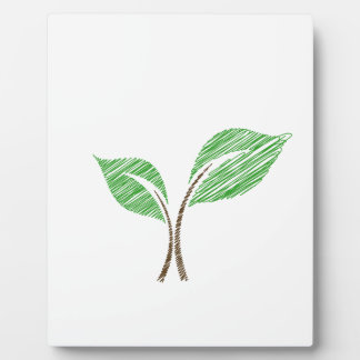 Baby seedling sketched plaque