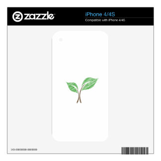 Baby seedling sketched skins for iPhone 4