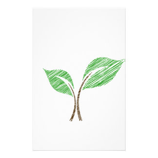 Baby seedling sketched stationery
