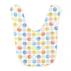Baby Sesame Street Character Shape Pattern Baby Bib