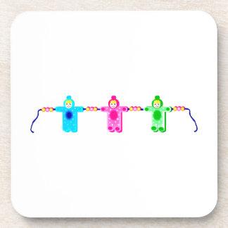 Baby shaped bead bracelet beverage coaster