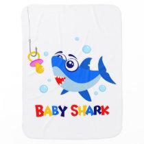 Baby Shark Baby Blanket
