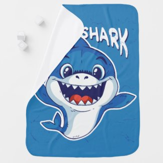 BABY SHARK DESIGN BABY BLANKET