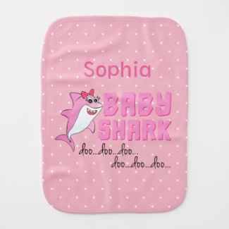 Baby Shark Doo Doo for Girls Baby Burp Cloth