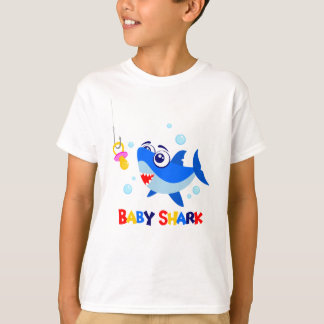 Baby Shark Kids' Hanes TAGLESS® T-Shirt