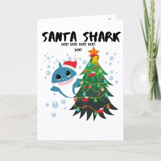 "Baby Shark ""Santa Shark"" Holiday Card"