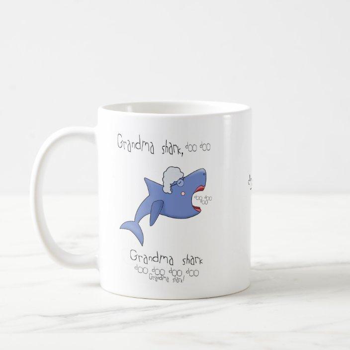 Grandma Shark Personalized Baby Shark Mug Funny Mug Grandma Mug Coffee Cup Shark