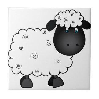 Baby Sheep For Ewe Ceramic Tile