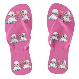 baby sheep flip flops