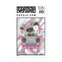 Baby Sheep with Flower  Postage