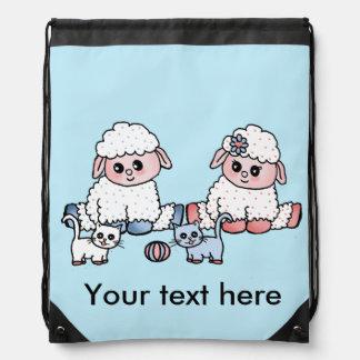 baby sheeps drawstring bag