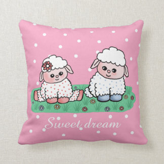 baby sheeps throw pillow